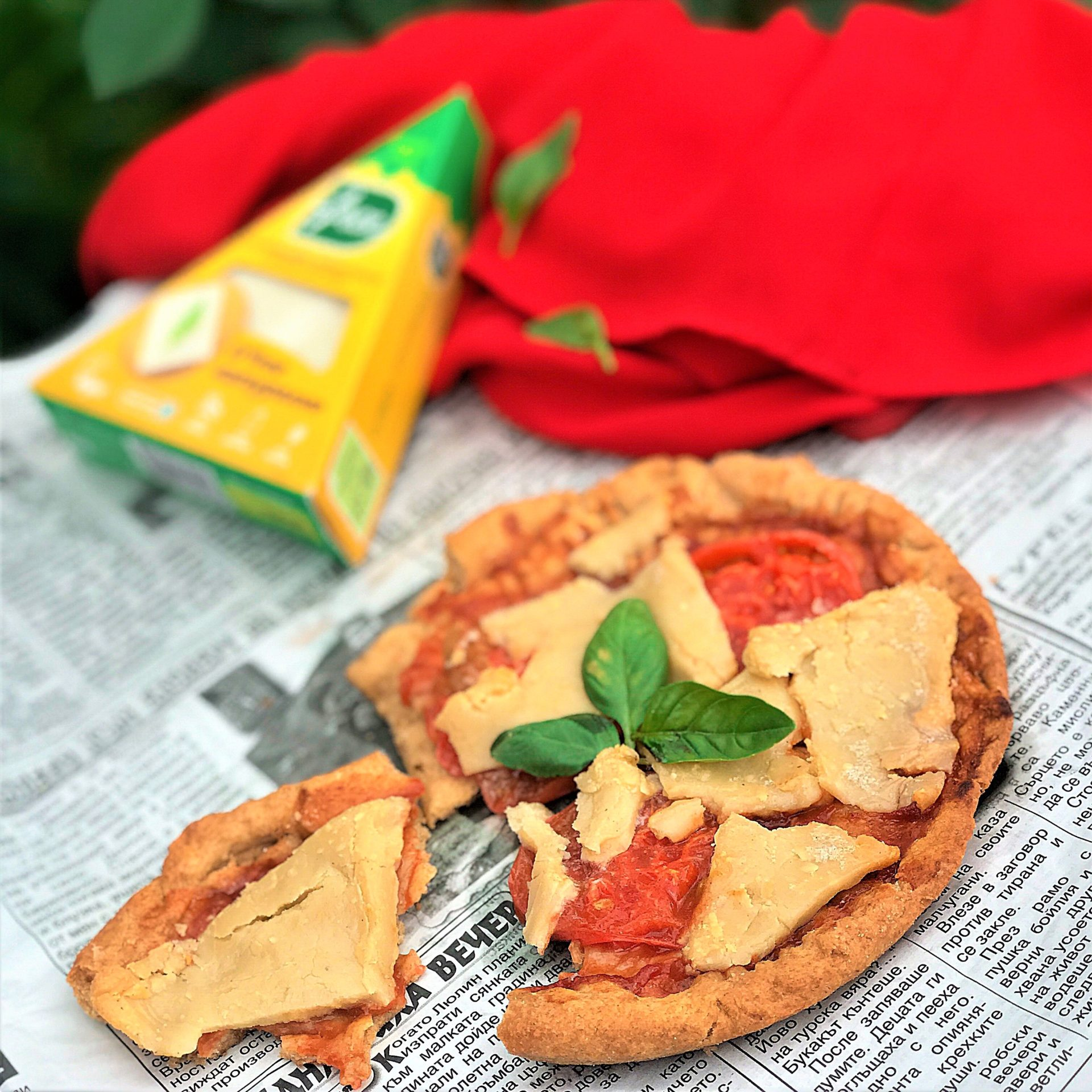 Веган мини пица Маргарита с D'free Натурално